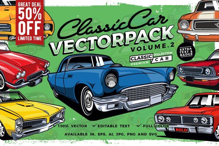 Classic Car Vector Pack Volume 2