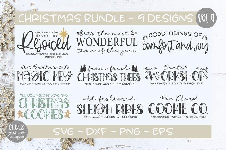 Christmas Bundle Vol. 4 - 9 Christmas SVG Designs