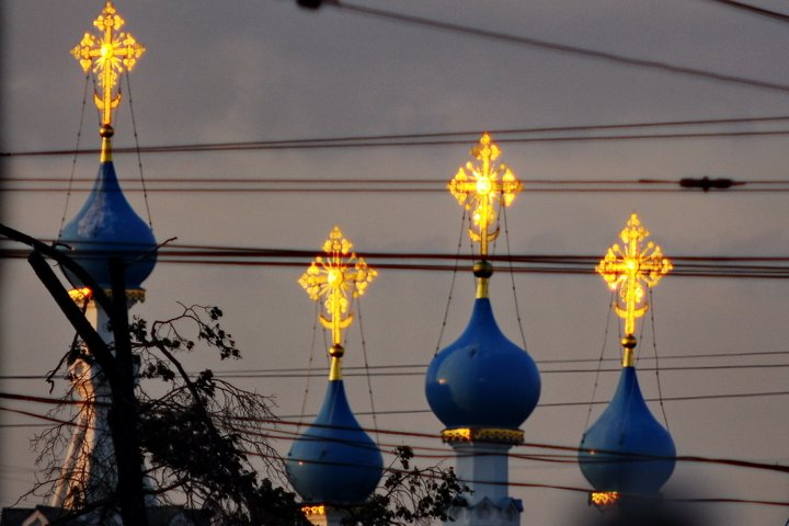 Civilization, city, church, Russia, Moscow, cross, Christian