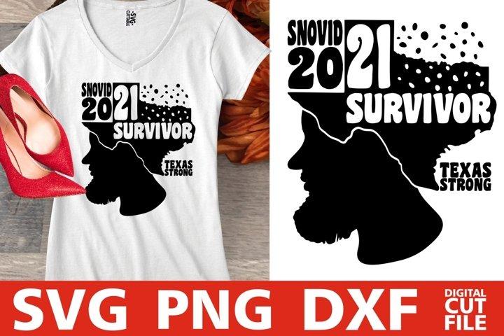 I Survived Snovid 2021 svg, Texas Strong, Snovid svg, Snow