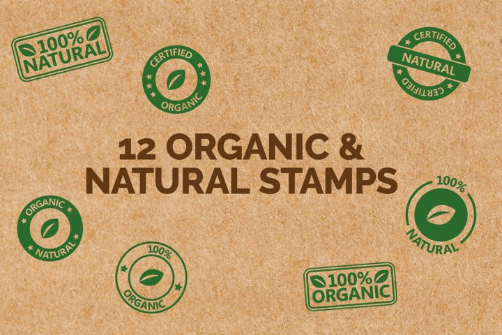 Natural & Organic Stamp Icons