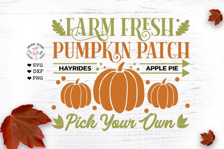 Farm Fresh Pumpkin Patch - Pumpkin SVG - Farm SVG