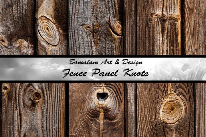 Wood Fence Panel Knots