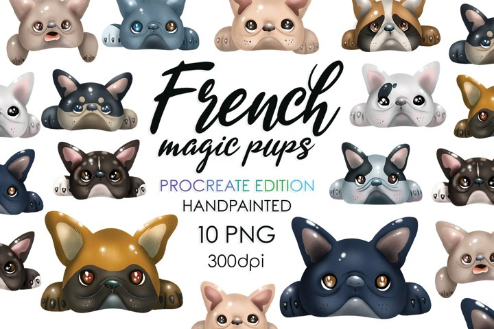 Dog Bundle, Dog Breed, Dog Clipart, Sublimation, Frenchie
