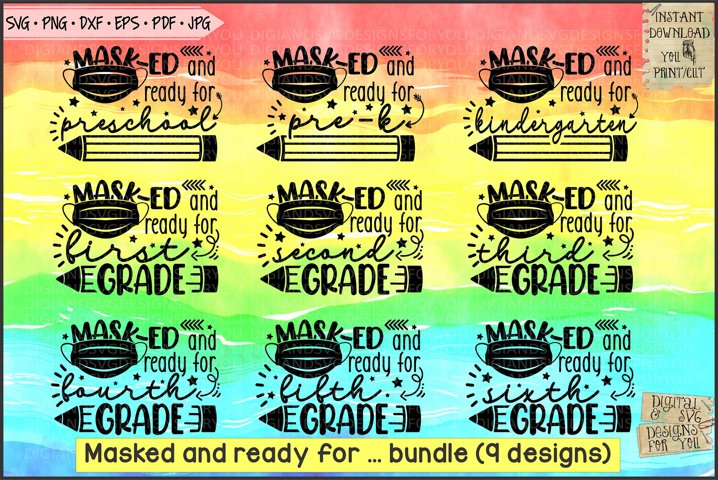 Masked and ready Back to school Bundle