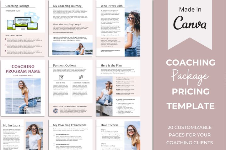 Coaching Service Package Template   Pricing Guide Template
