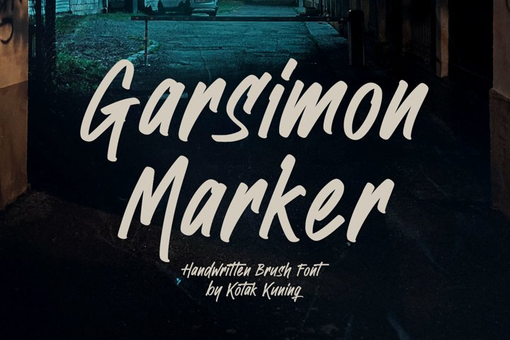 Handwritten Brush Font - Garsimon Marker
