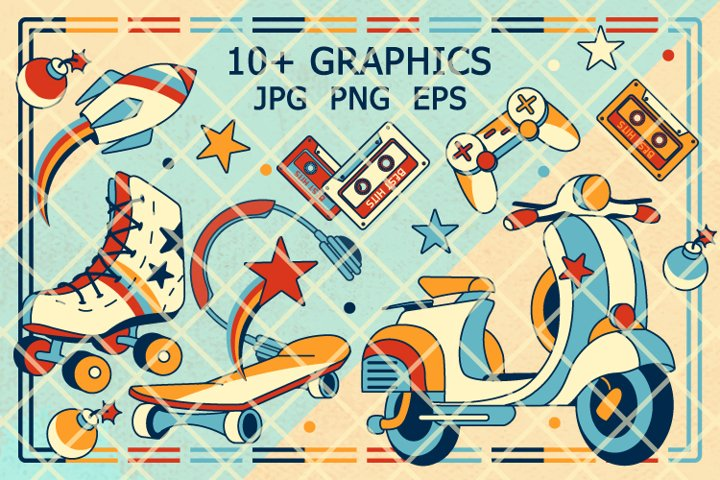 Back to 90s clipart