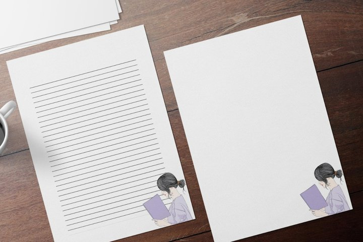 Elegant Writing Stationery Papers, Printable Letter Writing