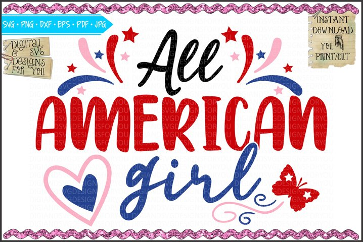 All American Girl - SVG EPS DXF Cutfile