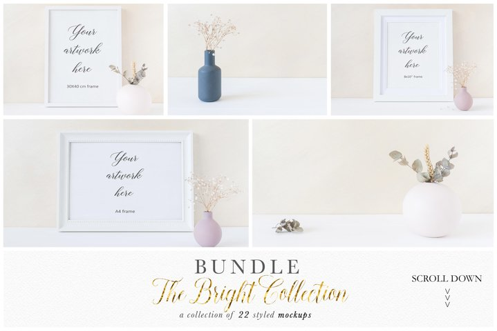 Frame mockup bundle - minimalist - 8x10 A4