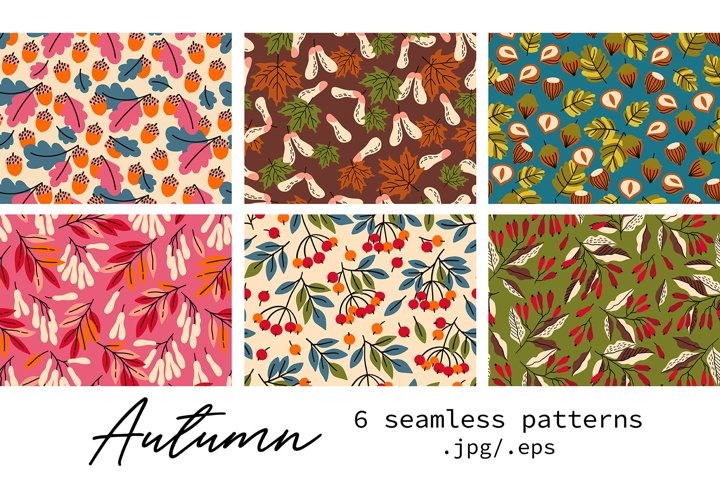 6 Autumn patterns pack