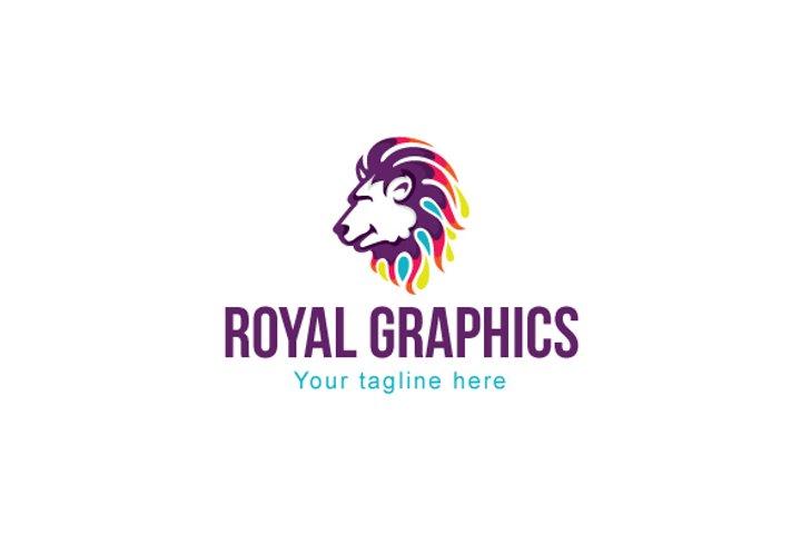 Royal Graphics - Creative Abstract Wild Animal Lion Logo