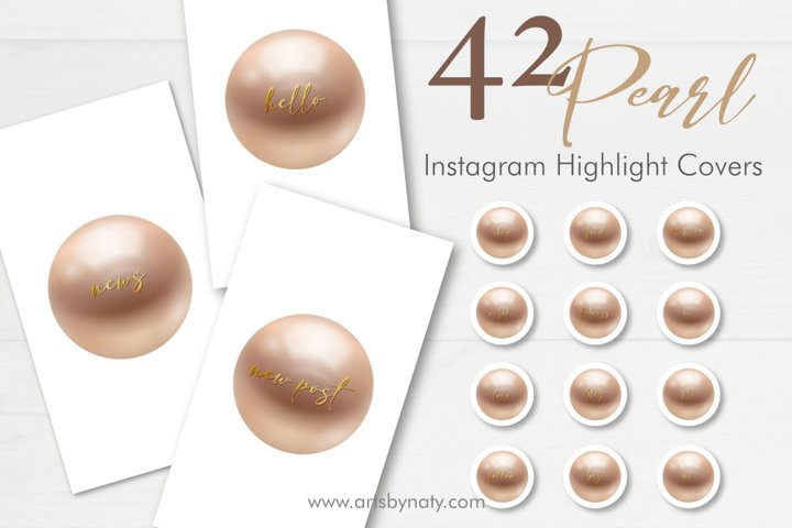 Pearl and gold Instagram highlight cover