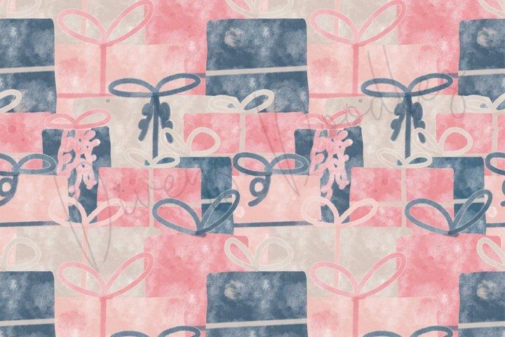 Birthday Girl Presents Seamless Pattern - Digital Paper