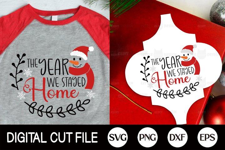 2020, Funny Christmas Ornament SVG, Christmas Snowman