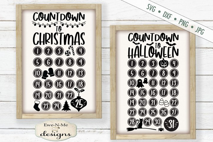 Countdown To Christmas | Countdown To Halloween | SVG