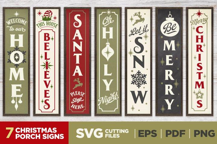 Christmas Porch Signs   Vol.1   Vertical Signs   SVG Bundle