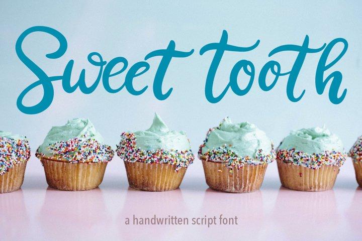 Sweet Tooth. A handwritten script font