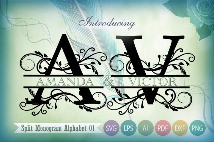 Split Monogram SVG Alphabet