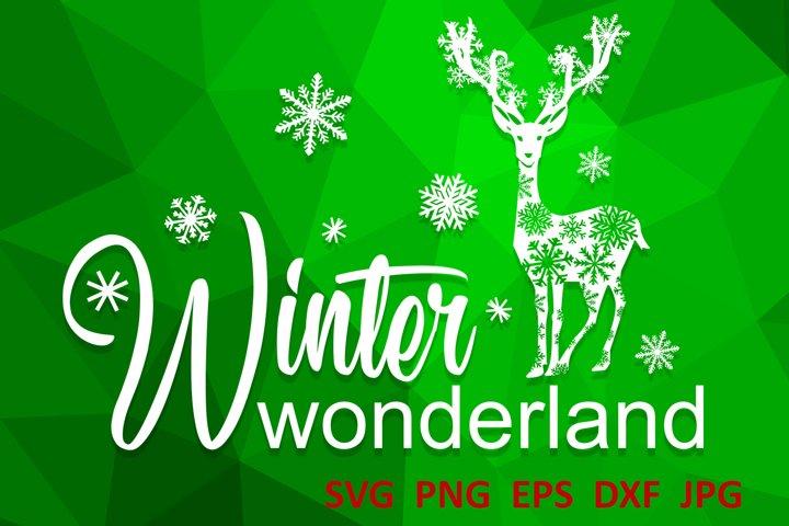 Christmas svg Winter wonderland svg Winter svg Snowflake svg