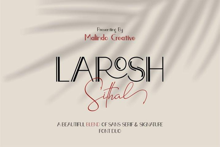 LAROSH Sithal   Font Duo