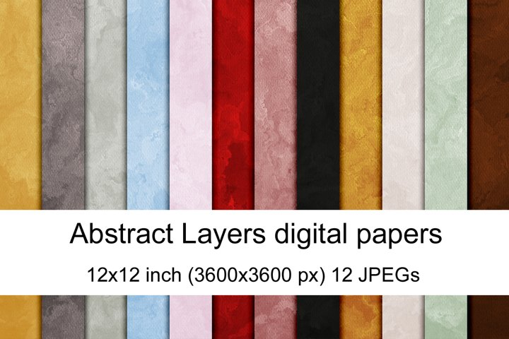 Abstract Layers digital paper textures