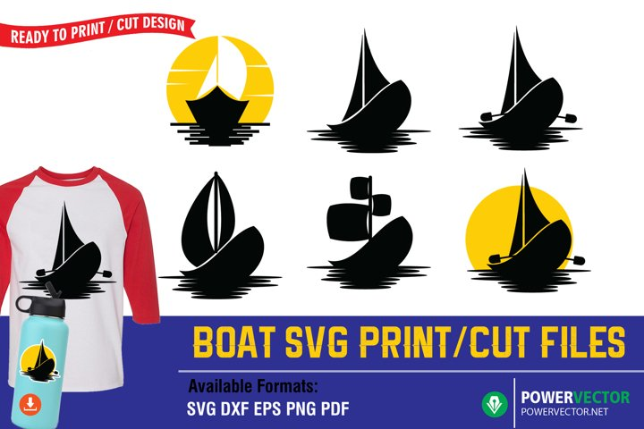 Boat SVG Print/ Cut Files for Crafters