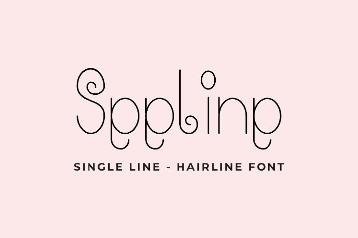 Seeline - Single Line - Hair Line Font