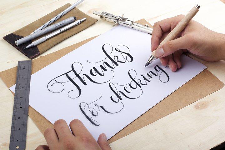 Sadhira Script Calligraphy Typeface - Free Font of The Week Design9