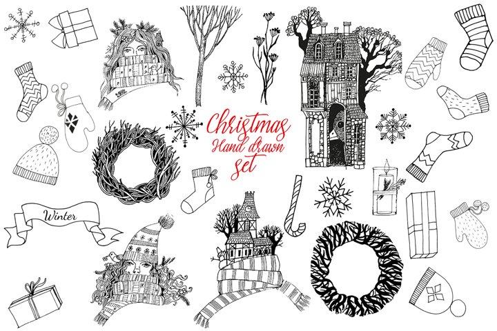 Christmas vector sketch
