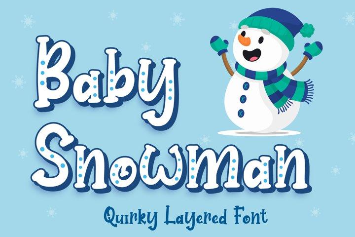 Baby Snowman - Display Font