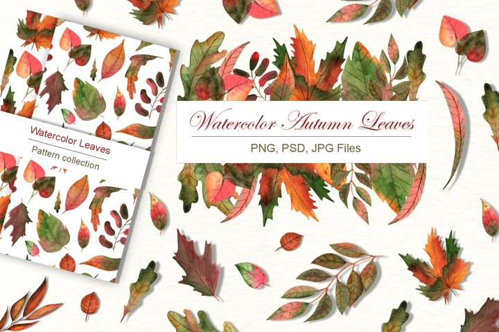 Watercolor Autumn Leaves example