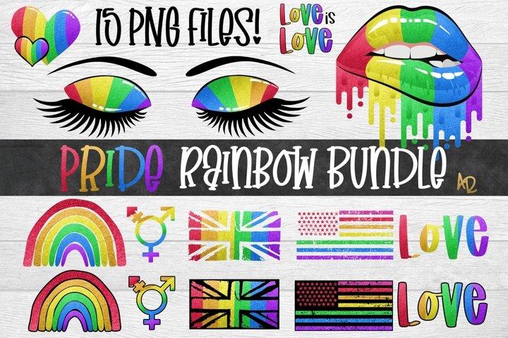 Gay Pride Bundle |LGBTQ Rainbow PNG| Clip art elements