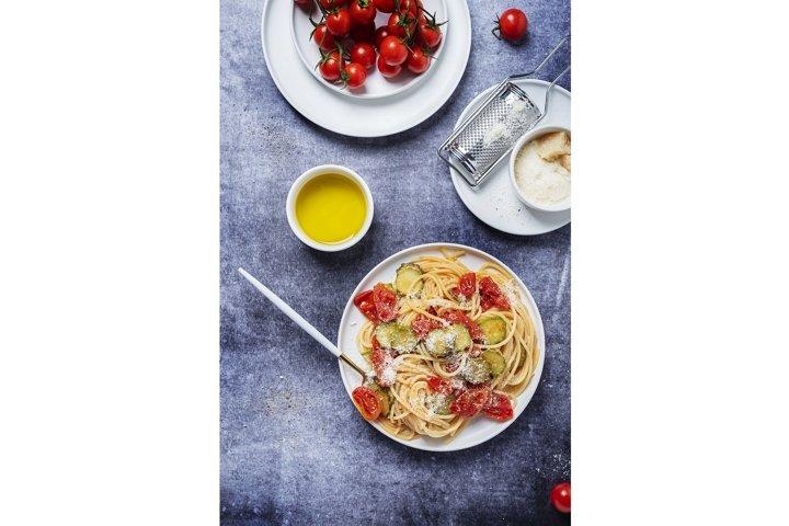 Traditional Italian pasta with tomato