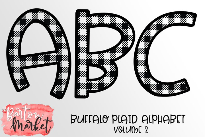 Buffalo Plaid Alphabet Volume 2 PNG