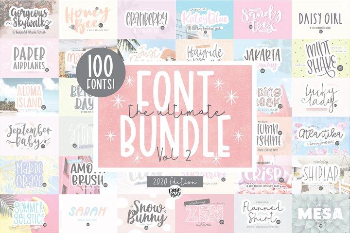 100 FONTS - The ULTIMATE Font Bundle Vol. 2 - Dixie Type Co.