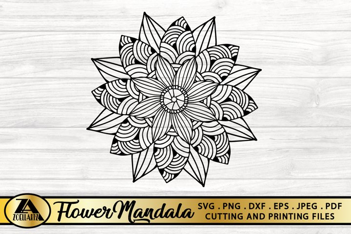 Flower Mandala SVG PNG EPS DXF Floral Mandala SVG Cut file