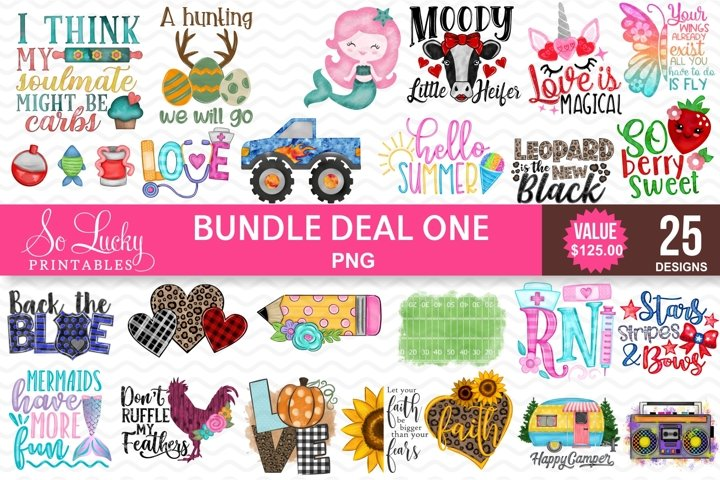 Sublimation Bundle - 25 best sellers PNG