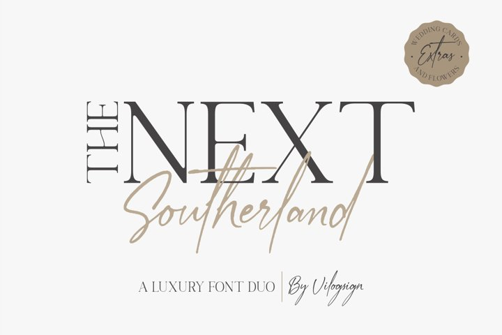 The Next Southerland Luxury Font Duo