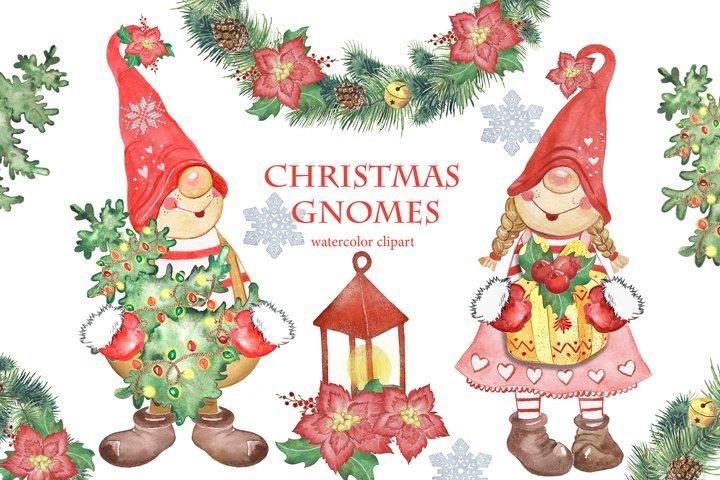 Christmas gnomes clipart. Christmas tree, christmas wreath