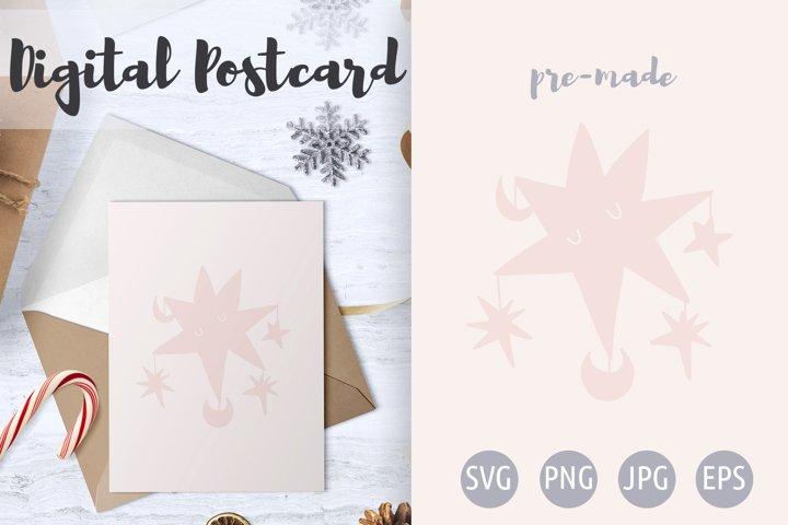 Star Postcard / Poster- Star svg