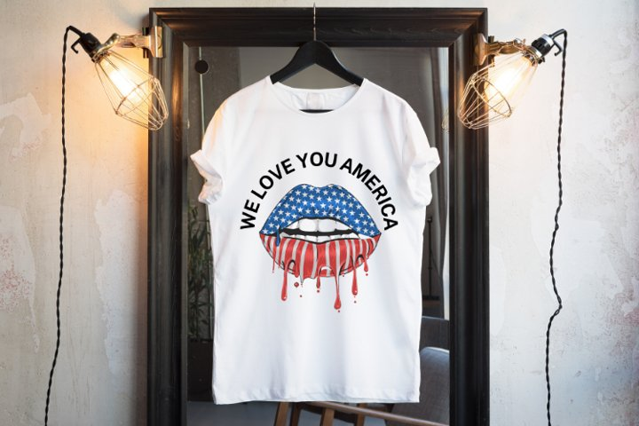 WE LOVE YOU AMERICA SVG FILE