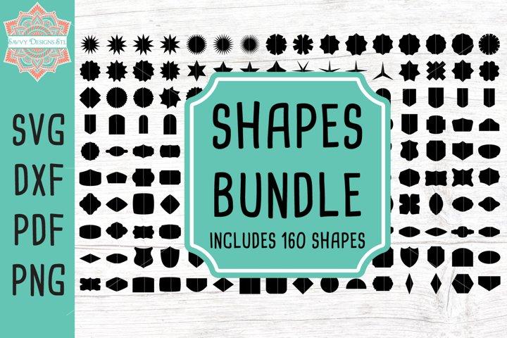 160 Vector Shapes Cut File Image Bundle