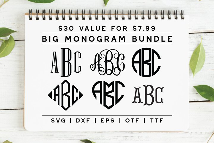 BIG Monogram Font Bundle | The Ultimate Bundle!
