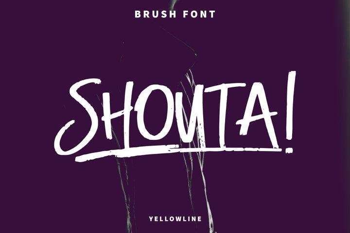 Shouta! Brush Font