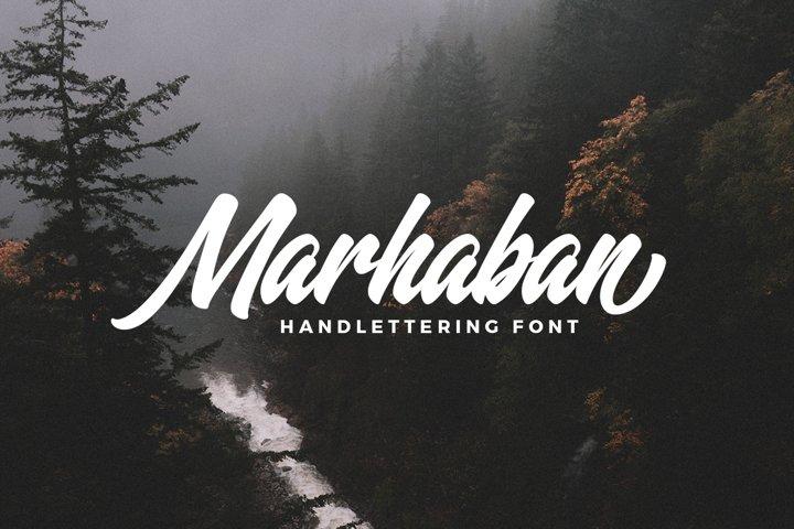 Marhaban Font example