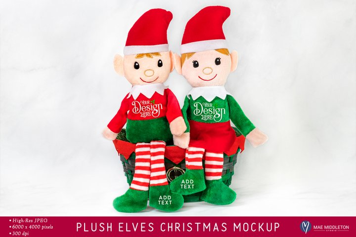 Christmas Elves Mockup | Styled photo