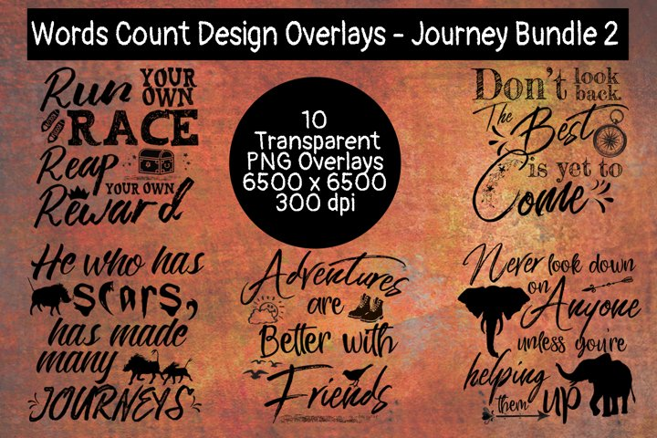 Words Count Designs - Journey Overlays Bundle #2