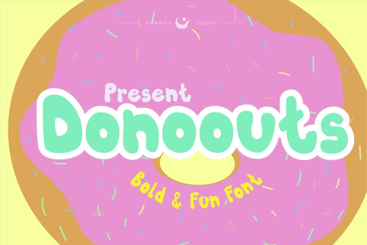 Donoouts Bold and Fun Font
